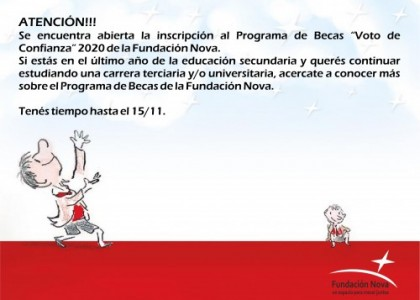 "PROGRAMA DE BECAS ""VOTO DE CONFIANZA"""